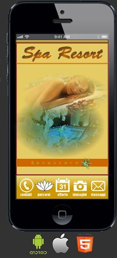 Applicazione Centro Benessere Android e Ios